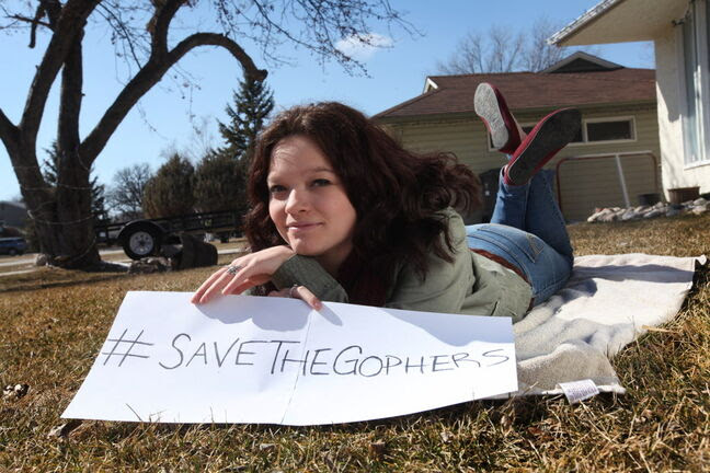 Paige McNabb has started an online petition to save the gophers from being poisoned.