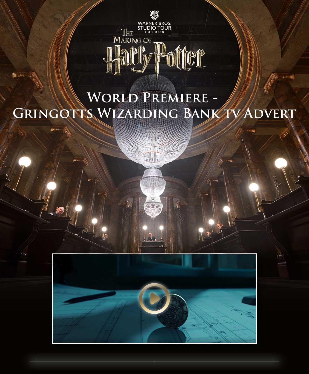 Warner Bros. Studio Tour London - The Making of Harry Potter | Gringotts Wizarding Bank