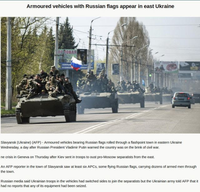 Major WW3 False Flag Underway? Russian Tanks Enter Eastern Ukraine Reports AFP - Or Are They?