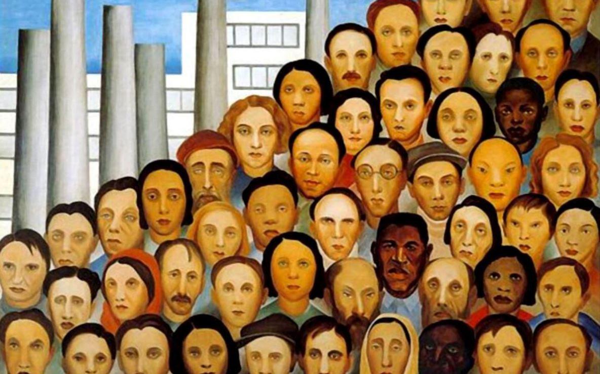 Operários, pintado em 1933 por Tarsila do Amaral (1886-1973), artista paulista