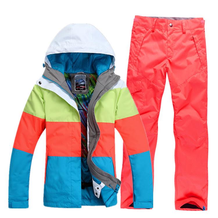 Брюки и куртка горнолыжные сине-красные