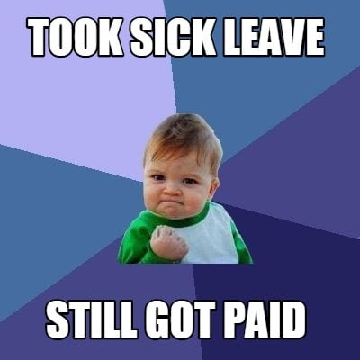 Image result for funny sick leave