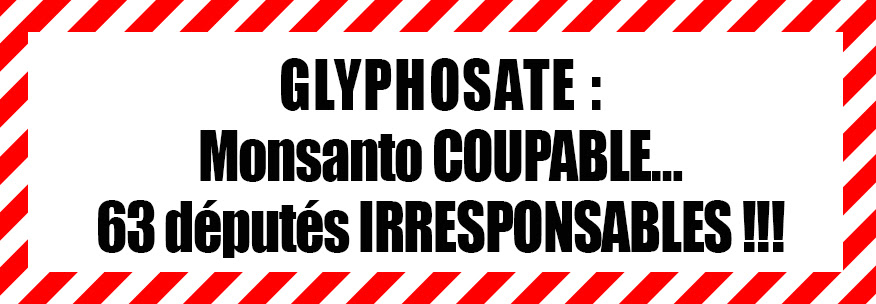 Glyphosate : Monsanto coupable mais qui sont les responsables ?