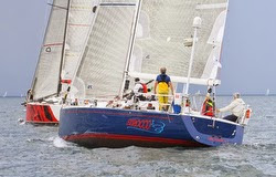 J/130s sailing Queens Cup Race off Milwaukee, WI