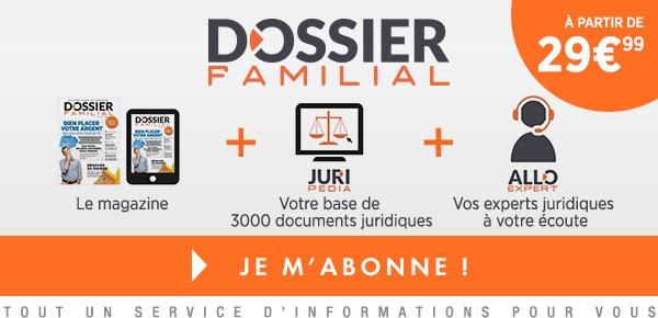 Abonnement Dossier familial
