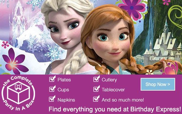 Frozen birthday party supplies