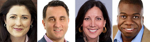 Headshots of Meaghan Duff, Alex Couros, Monica Tracey and Gordon Bellamy