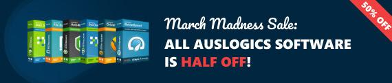 Auslogics March Madness Sale
