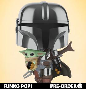 Pop! Star Wars: The Mandalorian - Mandalorian with The Child