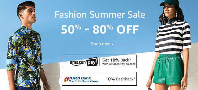 Amazon Fashion : 40% - 80% Off