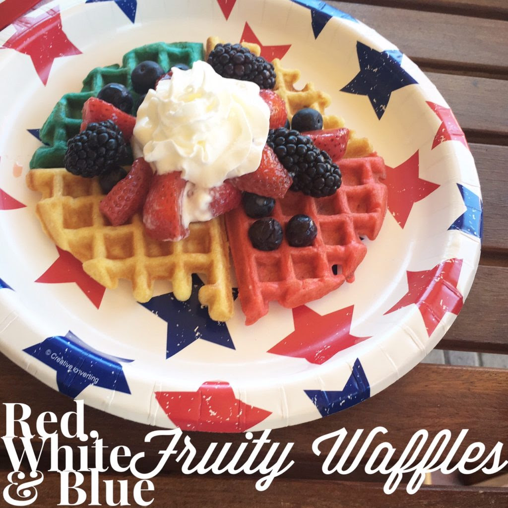 Red, White & Blue Waffles