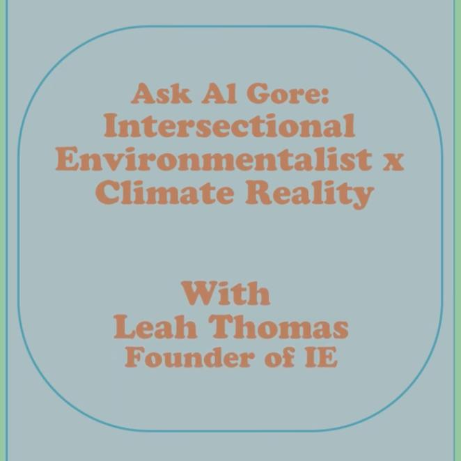 Leah Thomas and Al Gore