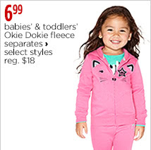 Babies' and toddlers' Okie Dokie fleece separates