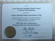 Iowa NHD award