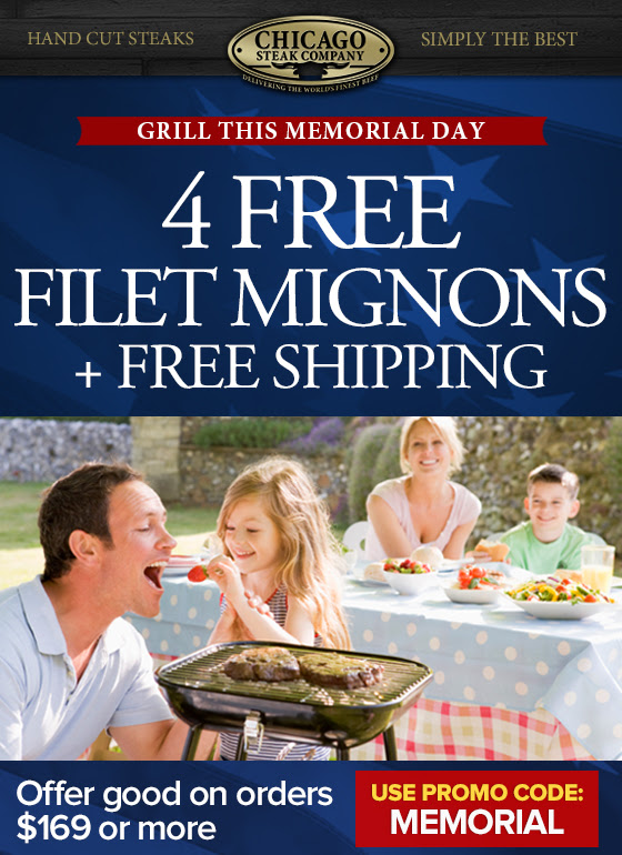 4 Free Filets + Free Shipping - use promo code MEMORIAL