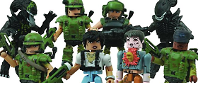 ALIENS MINIMATES SERIES 01 SET OF 8