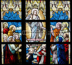 Obraz Witraż - Wniebowstąpienie Jezusa na wymiar • sztuka, szkło ...