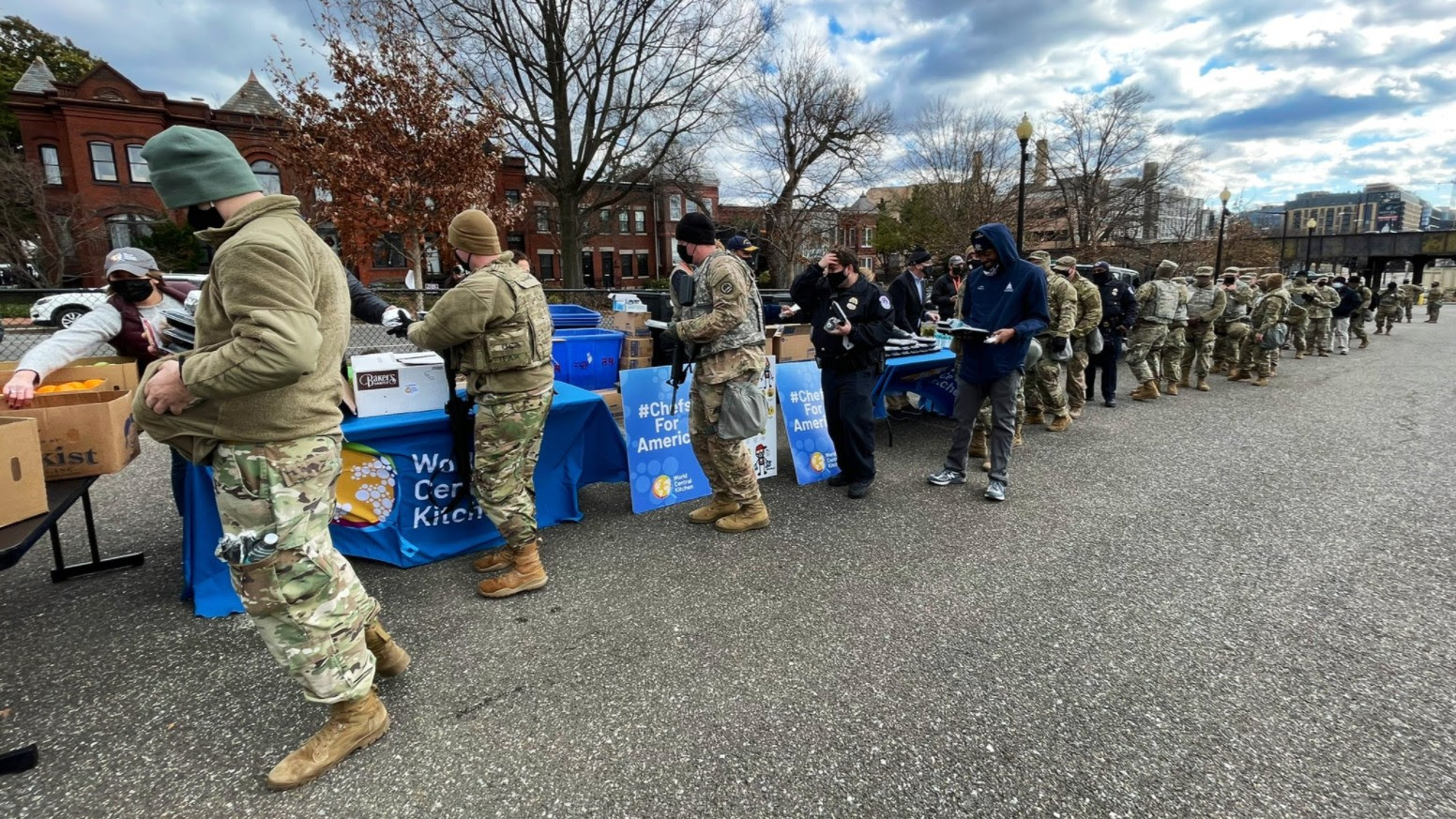 award-winning chef José Andrés cooked free meals for troops at the Capitol