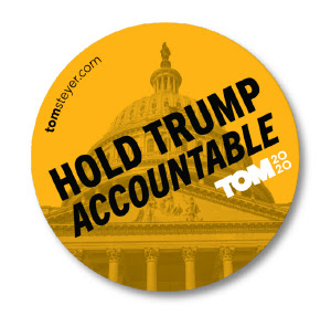 """Hold Trump accountable"" sticker"