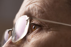 closeup of person's eyes and eyeglasses