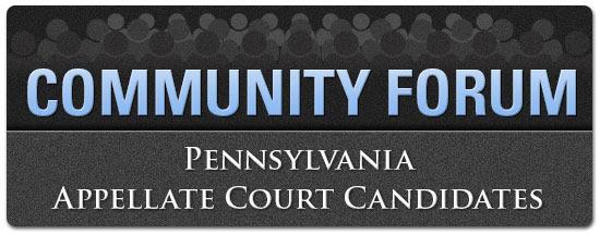 Community Forum - Appellate Court Candidates