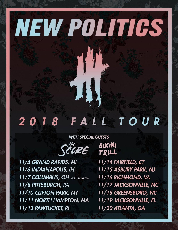 new politics tour poster