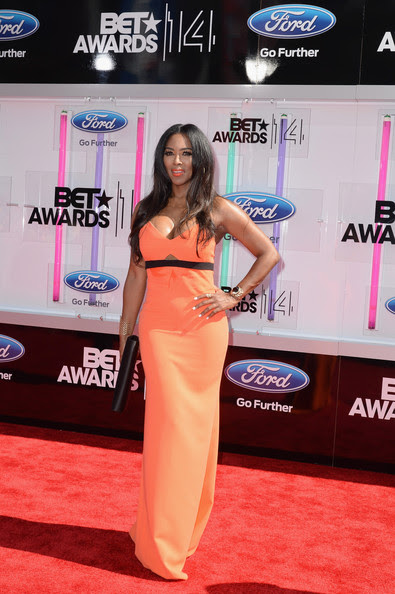 Actress Kenya Moore attends the BET AWARDS '14 at Nokia Theatre L.A. LIVE on June 29, 2014 in Los Angeles, California.