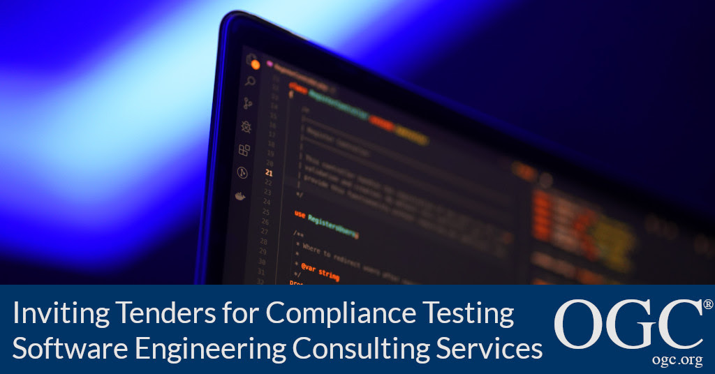 Banner announcing open tender for the Provision of Compliance Testing Software Engineering Consulting Services