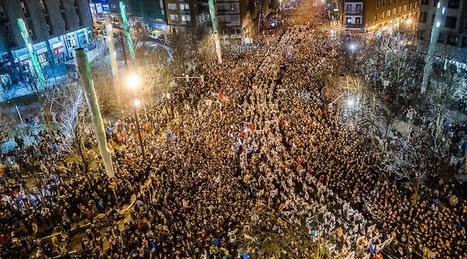 Vista aérea de la manifestación (ARGAZKI PRESS)