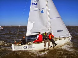 J/24 sailing JFest SW in Houston, TX