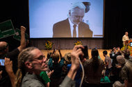 Julian Assange, founder of WikiLeaks, addressed via video the Green Party National Convention last week in Houston, Tex.