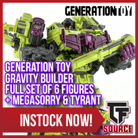 Generation Toy - Gravity Builder - Full Set of 6 Figures + Megasorry & Tyrant