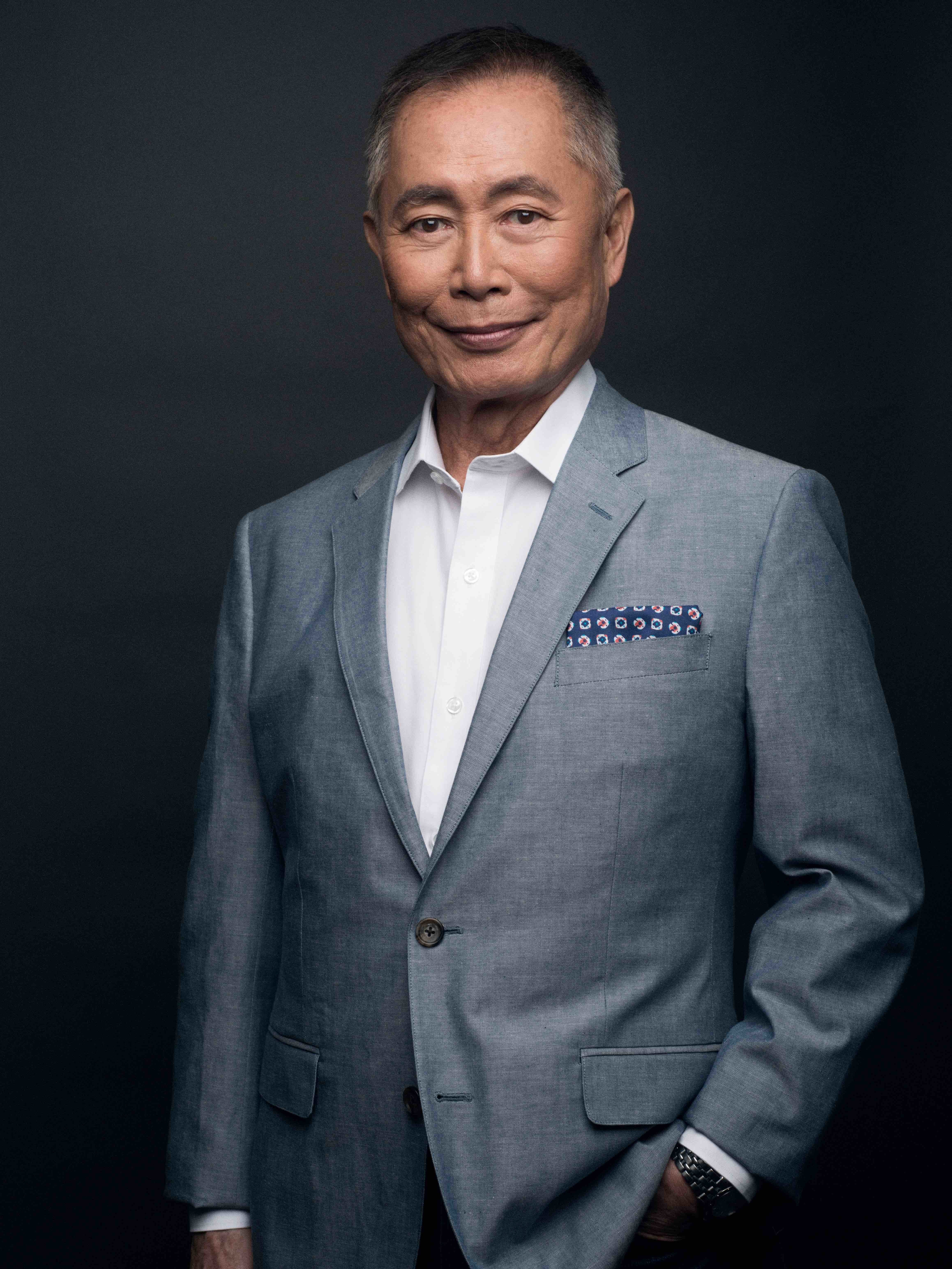 George Takei in a suit