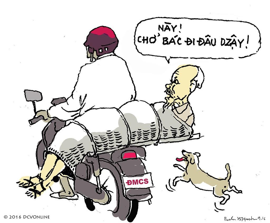 Đảng biếu chó. Tranh Babui.