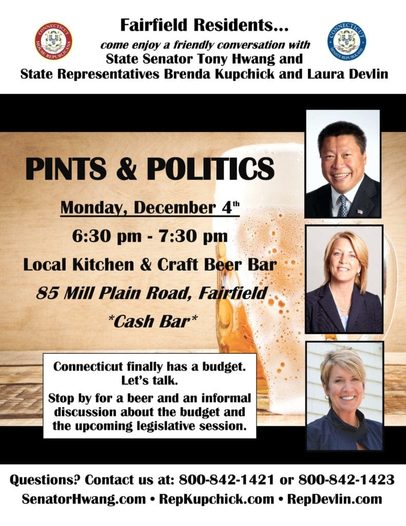 Pints and Politics Fairfield