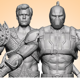 INJUSTICE 2 BANE & AQUAMAN 1/18 SCALE PX PREVIEWS EXCLUSIVE