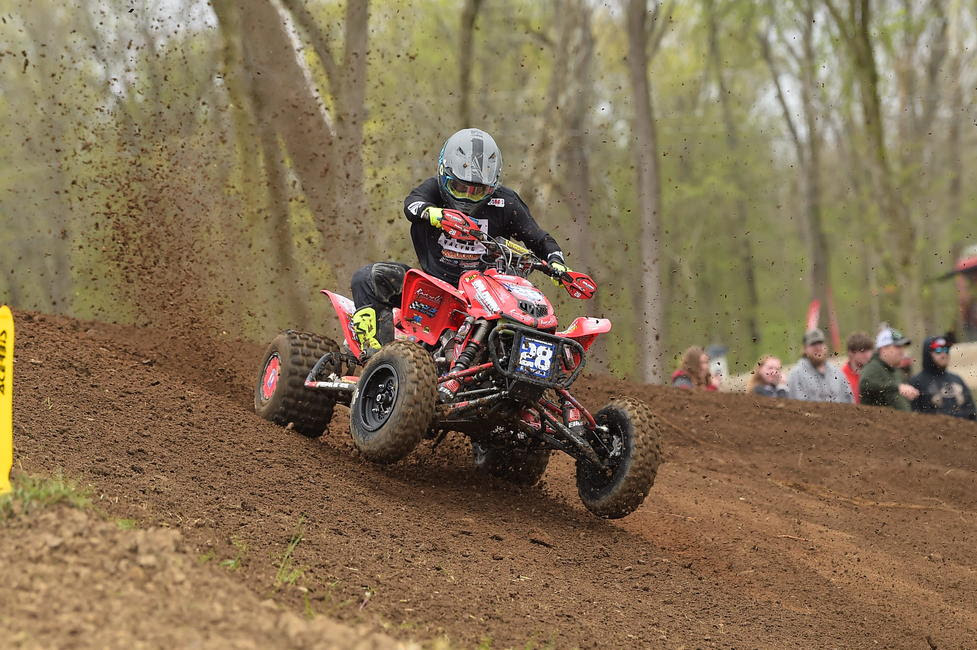 Jeffrey Rastrelli took home second overall after finishing second in moto one, and third in moto two.