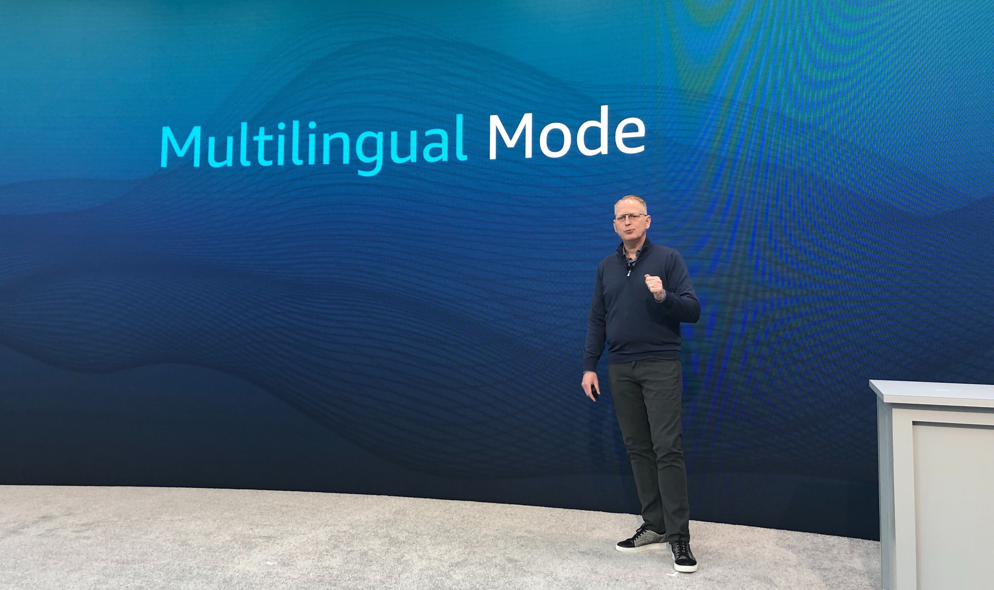 Amazon SVP of Devices Dave Limp announcing Alexa Multilingual Mode