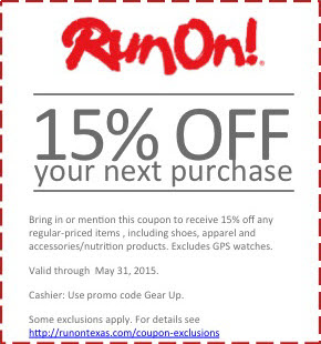 Run On! 15% off your next purchase (coupon)