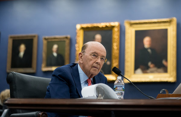 Wilbur Ross Jr., the secretary of commerce, at a hearing on Capitol Hill last week, said the question on citizenship would help enforce the 1965 Voting Rights Act.
