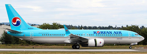 Boeing 737-8MAX Korean Air HL8351 (with stand) | is due: October 2019