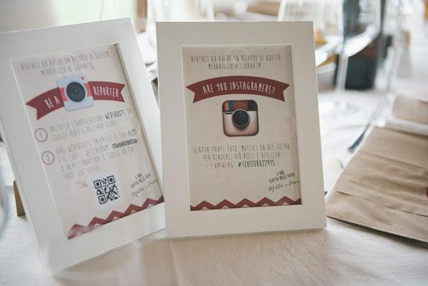 cornici instagram | Wedding suite matrimonio anni 50