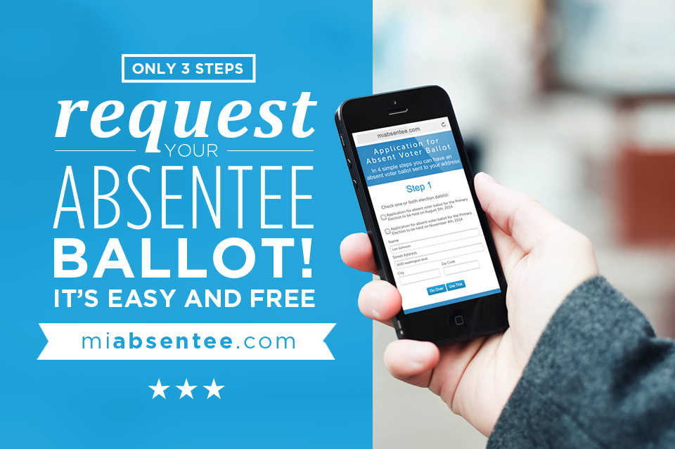 Apply for your absentee ballot today!