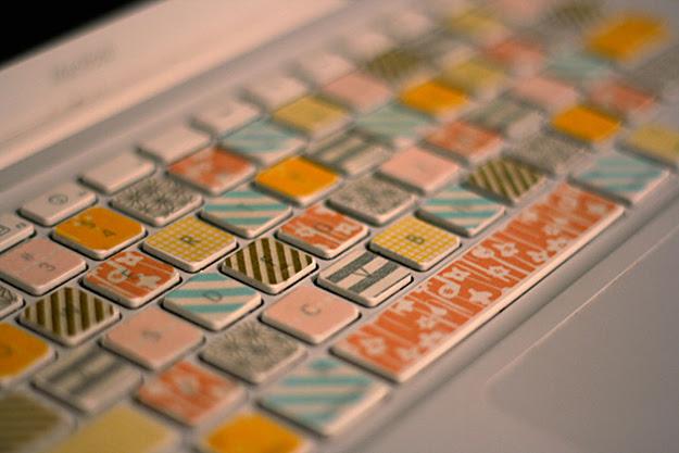 Transform a computer keyboard.