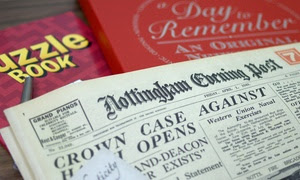 Original Newspaper from the day you were born gift pack