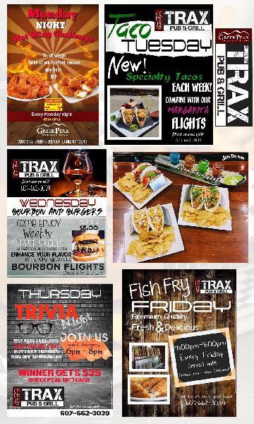 Specials at Trax Pub and Grill