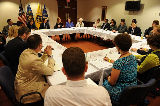 On June 19, 2015, Secretary Burwell hosted a roundtable of over 20 LGBT advocates to discuss how we can continue to make more progress for the LGBT community.