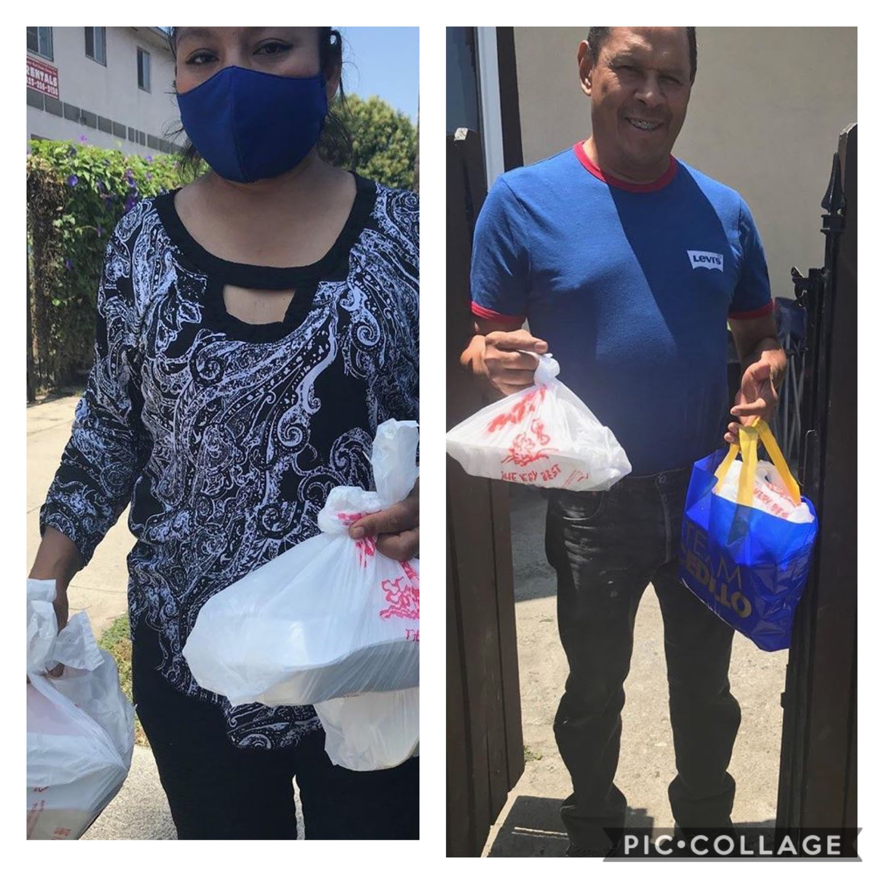 Unidos por NELA and Las Cazuelas Restaurant, delivered dozens of hot meals to seniors in Cypress Park 5-28-2020 COLLAGE