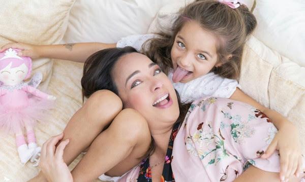 Adamari López with her daughter, Alaïa.