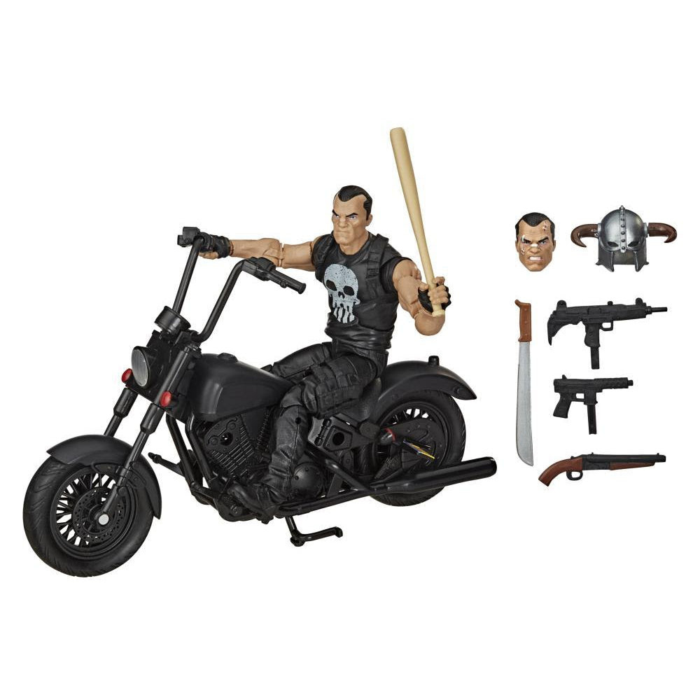 Image of Marvel Legends Series 6-inch The Punisher Action Figure with Motorcycle